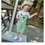 ชุดเซตเอี๊ยมสีเขียว [size: 1y-18m-2y] thumbnail 1