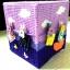 กล่องทิชชูแผ่นเฟรมสีม่วง ตัวหนีบตากผ้า thumbnail 2
