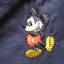 LES086 LES ENPhANTS - Disney Baby กางเกงขายาวสีกรมท่าเดินตะเข็บสีขาว ปักลายมิคกี้เมาส์ ผ้าเนื้อดีมาก ๆ เหลือ Size 1 ขวบ thumbnail 3