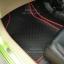 โรงงานพรมรถยนต์ Honda Brio ลายกระดุมสีดำขอบแดง thumbnail 4