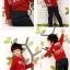 SEV071R TWO&SEVEN เสื้อกันหนาวเด็ก แบบสเวตเตอร์ มีฮู้ด ด้านในเป็นผ้าขูดขนเนื้อเนียนนุ่ม สกรีนลายหน้า+หลัง LIFEGUARD สีแดง เหลือ Size 110 thumbnail 1
