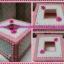 กล่องทิชชู pop-up สีขาวชมพู ลายผีเสื้อ thumbnail 1