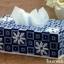 ชุดปักแผ่นเฟรมกล่องทิชชูทรงยาวลายดอกไม้สีน้ำเงิน thumbnail 1