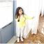 เสื้อ สีเหลือง แพ็ค 5ชุด ไซส์ 100-110-120-130-140 thumbnail 3