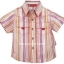 K546SA Kidsplanet เสื้อผ้าเด็กชาย เสื้อเชิ้ตแขนสั้น ลายริ้วโทนชมพู-เหลือง สดใส กระเป๋าหน้า เหลือ Size 12M thumbnail 1
