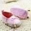 รองเท้าหัดเดินเด็กเล็กลายแต่งโบว์สีชมพู [size 11-12] thumbnail 4