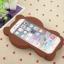 เคสซิลิโคนเคสหมีบราวน์ 3D ไอโฟน 4/4s thumbnail 3