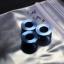 Hinderer 3.5 XM-18 STANDOFFS TI SET OF 3 - BLUE