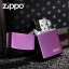 """ไฟแช็ค Zippo 24747ZL แท้ สีม่วงเข้มผิวมัน """" Zippo Logo Purple Abyss """" แท้นำเข้า 100% thumbnail 4"""