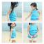 เสื้อ+กางเกง สีฟ้า แพ็ค 5ชุด ไซส์ 90-100-110-120-130 thumbnail 6