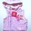 KWG198L Kidsplanet เสื้อแจคเก็ตกันหนาวเด็กหญิง สีม่วง แขนกุดมีฮู้ดซิปหน้า สกรีนลายหัวใจ Kidsplanet Light & Fastastic Size 3Y thumbnail 1