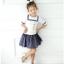 เสื้อ+กระโปรง สีขาว แพ็ค 5ชุด ไซส์ 100-110-120-130-140 thumbnail 1