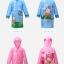 เสื้อกันฝนลายลิงพร้อมซอง (สีฟ้า) [size 6y] thumbnail 3
