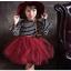 ชุดกระโปรง สีแดง แพ็ค 5ชุด ไซส์ 100-110-120-130-140 thumbnail 2