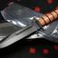 "KA-BAR 5017 Full-size USMC Fighting Knife 7"" Plain Edge, Kydex Sheath"
