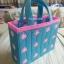 กระเป๋าแผ่นเฟรมลายดอกไม้สีฟ้า (ทำสำเร็จ) thumbnail 2