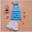 เสื้อ+กางเกง สีฟ้า แพ็ค 5ชุด ไซส์ 90-100-110-120-130 thumbnail 1