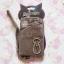 ซองใส่มือถือมีสายคล้องข้อมือ ลายแมวประดับเพชร Animob thumbnail 2