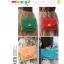 กระเป๋าถือหนังลายตาราง แพ็ค 5 ใบ [สี ฟ้า-แดง-ส้ม] thumbnail 2