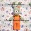 ตุ๊กตาถัก กระต่ายชุดเอี๊ยม thumbnail 1