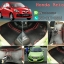โรงงานพรมรถยนต์ Honda Brio ลายกระดุมสีดำขอบแดง thumbnail 1