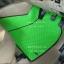 ผ้ายางปูพื้นรถยนต์ Toyota Vigo 4 ประตู ลายกระดุมสีเขียวขอบดำ thumbnail 3