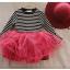 ชุดกระโปรง สีแดง แพ็ค 5ชุด ไซส์ 100-110-120-130-140 thumbnail 6