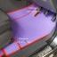 ผลิตและจำหน่ายพรมปูพื้นรถยนต์เข้ารูป Ford Ranger 4ประตู ลายธนูสีม่วงขอบแดง thumbnail 3