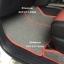 พรมปูพื้นรถยนต์ Toyota Fortuner 2015-2017 ไวนิลสีเทาขอบแดง thumbnail 2