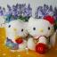 เซ็ตคู่ 2 ชิ้น เฮลโหลคิตตี้&แดเนียล Mcdonald's Hello Kitty & Dear Daniel Summer Holiday Costume ( wisdom of Love 1999) thumbnail 1