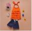 เสื้อ+กางเกง สีส้ม แพ็ค 5ชุด ไซส์ 90-100-110-120-130 thumbnail 1