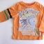 KPTL004L Kidsplanet เสื้อผ้าเด็กชาย เสื้อยืดแขนยาว สีส้ม สกรีนลายอินเดียนแดง Freedom Valley เหลือ Size 5Y thumbnail 1