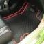 โรงงานพรมรถยนต์ Honda Brio ลายกระดุมสีดำขอบแดง thumbnail 3