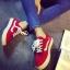 รองเท้าผ้าใบเกาหลี (สีแดง 35-40) thumbnail 1