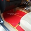 โรงงานพรมรถยนต์ Isuzu Mu-7 ไวนิลสีแดงเหลือง thumbnail 3