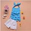 เสื้อ+กางเกง สีฟ้า แพ็ค 5ชุด ไซส์ 90-100-110-120-130 thumbnail 2