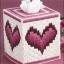 ชุดปักแผ่นเฟรมกล่องทิชชูลายหัวใจ thumbnail 1