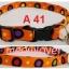 A41 ปลอกคอแมวนิรภัย ลายจุด พื้นส้ม thumbnail 1