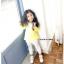เสื้อ สีเหลือง แพ็ค 5ชุด ไซส์ 100-110-120-130-140 thumbnail 5