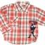 SH002 เสื้อเชิ้ตเด็กแขนยาว ผ้าคอตตอน ลายตารางสีแดง กระเป๋าตรงอก สกรีน International Sport Winner Cup Size 6/8/10/12 thumbnail 1