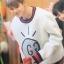 เสื้อแขนยาว (Sweater) GUCCI GHOST แบบ Jimin thumbnail 4