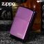 """ไฟแช็ค Zippo 24747ZL แท้ สีม่วงเข้มผิวมัน """" Zippo Logo Purple Abyss """" แท้นำเข้า 100% thumbnail 1"""