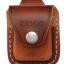 กระเป่าหนังใส่ไฟแช็ค Zippo แท้ - Genuine Zippo LPLB, Brown Leather Lighter Pouch with Loop แบบห่วง thumbnail 4