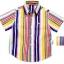 K597SA Kidsplanet เสื้อเด็กชาย เสื้อเชิ้ตแขนสั้น ลายริ้วสลับสีสดใส ปักโลโก้ Kidsplanet ตรงอก Size 12M/18M thumbnail 1