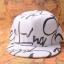 หมวกแฟชั่น GOT7 Jackson สีขาวลายดำ thumbnail 2