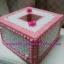 กล่องทิชชู pop-up สีขาวชมพู ลายผีเสื้อ thumbnail 3