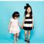 ชุดกระโปรง สีดำ แพ็ค 5ชุด ไซส์ 100-110-120-130-140 thumbnail 3