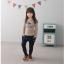 กางเกง(มีขนด้านในอ่อนๆ) สีกรม แพ็ค 5ชุด ไซส์ 100-110-120-130-140 thumbnail 2