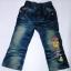 CNJ025 กางเกงยีนส์ เด็กหญิง ขายาว ผ้าฟอกอัดยับ ผ้านิ่มใส่สบาย แต่งลายเก๋ ๆ ปักเลื่อม กระเป๋าหลังสองข้าง Size 15/16/17/18 thumbnail 1