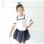 เสื้อ+กระโปรง สีขาว แพ็ค 5ชุด ไซส์ 100-110-120-130-140 thumbnail 2